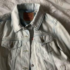light-wash levi's denim jacket